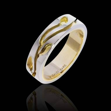 Diamond Wedding Band Gold Blanc Yann
