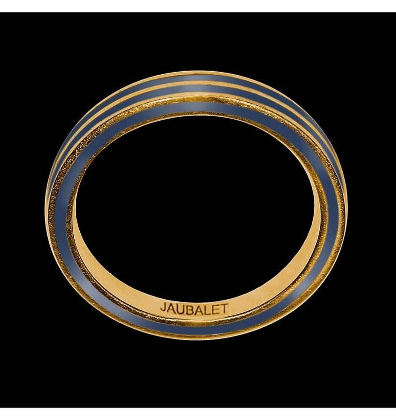 罗马 男士双漆环K金结婚戒指