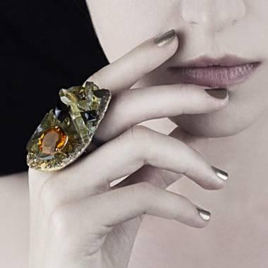 Ring Grey Gold Al Khena