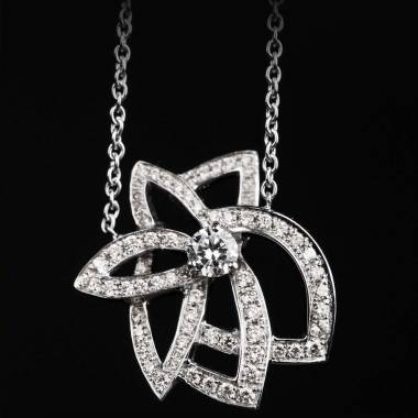 Diamond Pendant White Gold Presides