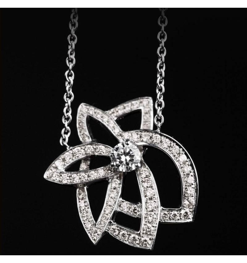 Diamond Pendant White Gold Presides