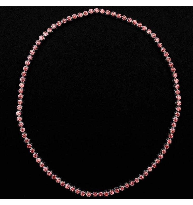 Ruby Necklace Gold Perle de Diamants
