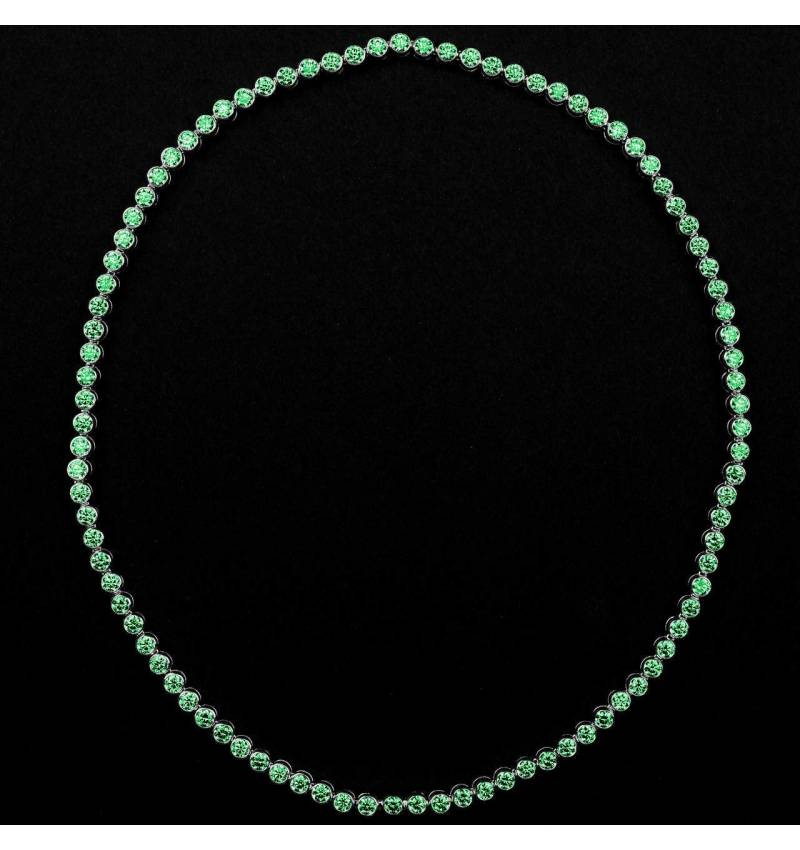 Emerald Necklace Gold Perle de diamants