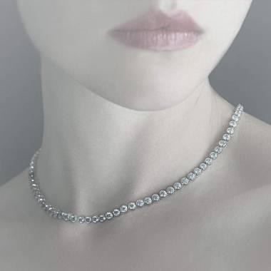 Emerald Necklace Gold Perle de diamants