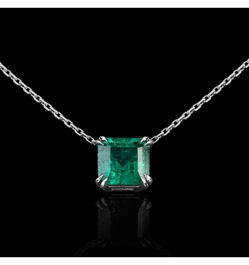 Emerald Pendant Gold Griffes d'amour