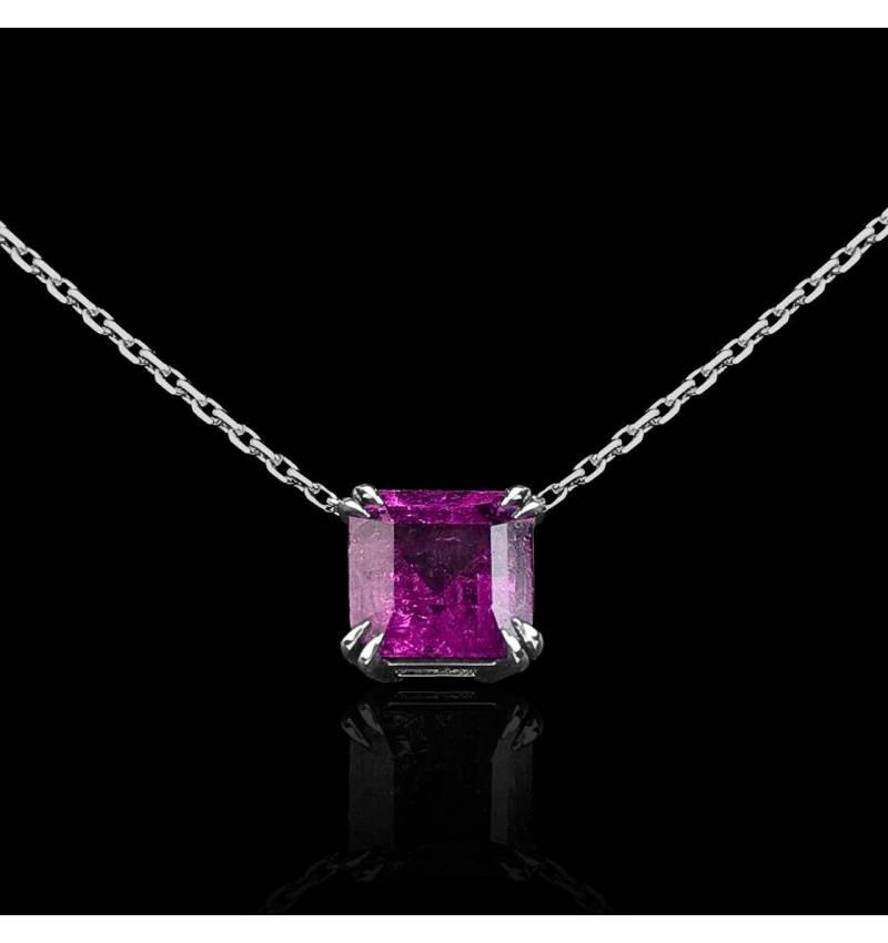 Pink Sapphire Pendant Gold Griffes d'amour