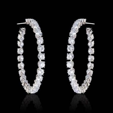 Diamond Earrings Gold Créoles
