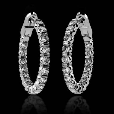Diamond Earrings Diamond Paving Gold Créoles Inside
