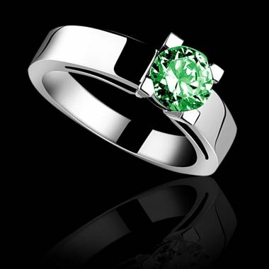 Emerald engagement ring white gold Celine