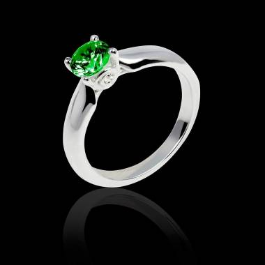 Emerald engagement ring white gold Motherhood