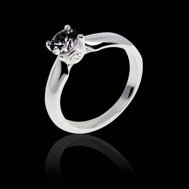 Black diamond engagement ring white gold Motherhood