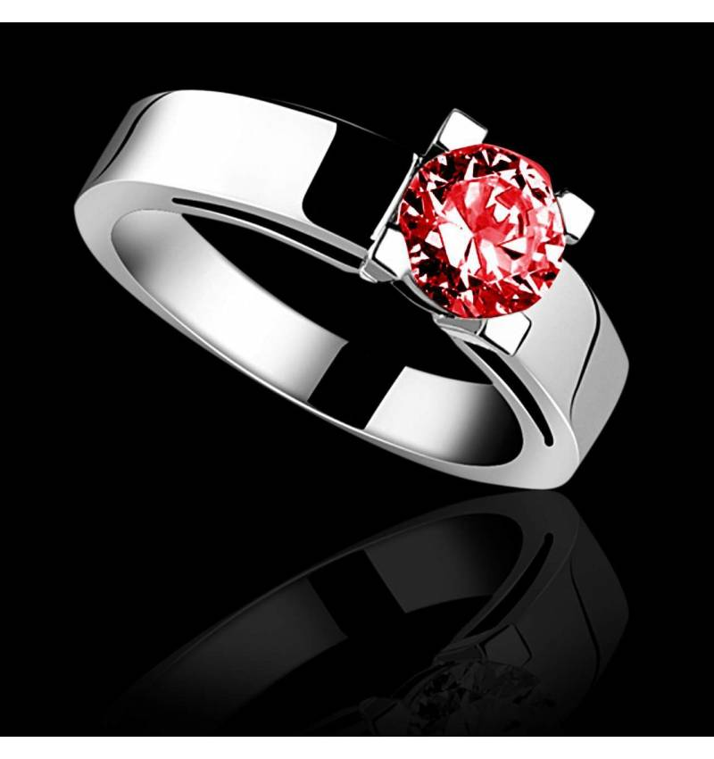 Ruby engagement ring white gold Celine