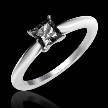 Black diamond engagement ring white gold My Love