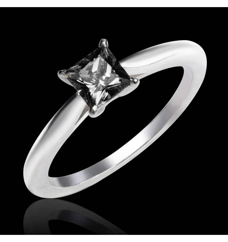 Black diamond engagement ring white gold My Love