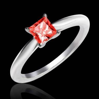 Ruby engagement ring white gold My Love