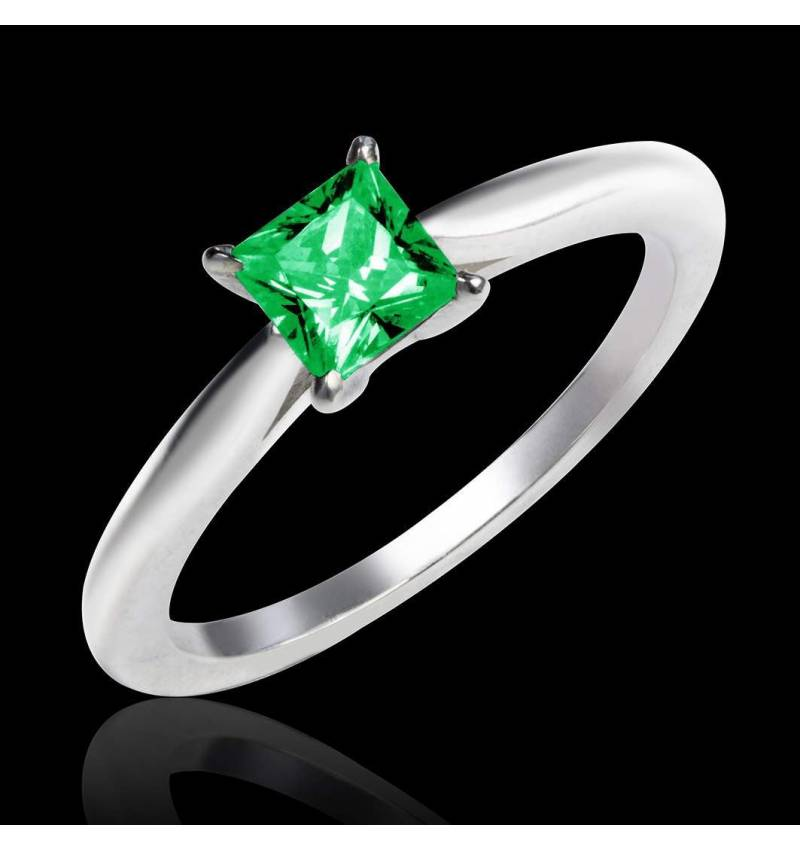 Emerald engagement ring white gold My Love
