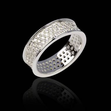 Diamond Wedding Band Platinum Mars