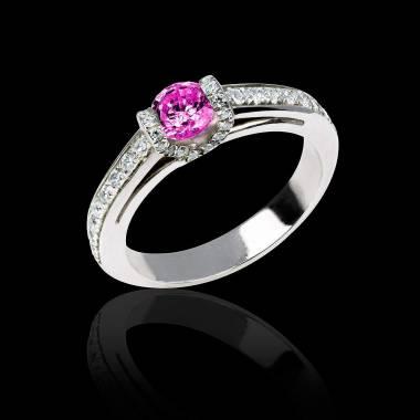 Pink Sapphire Engagement Ring White Gold Hera