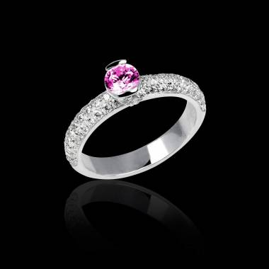 Pink Sapphire Engagement Ring White Gold Orphee