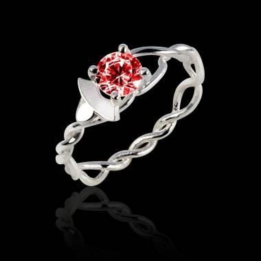 Ruby Engagement Ring White Gold  Vigne