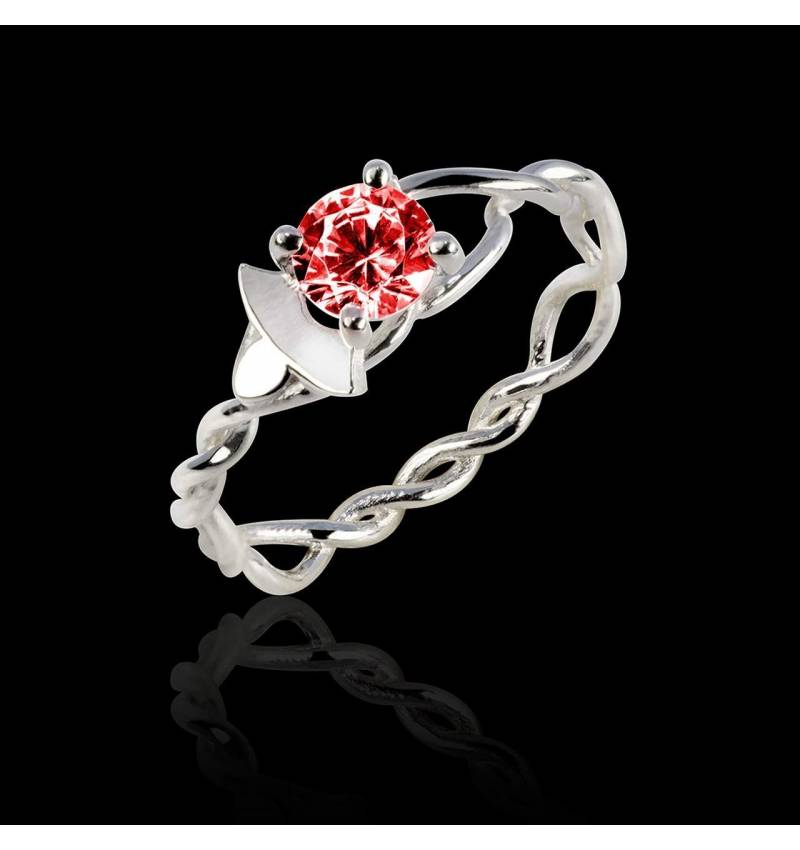 Ruby Engagement Ring White Gold  Vigne