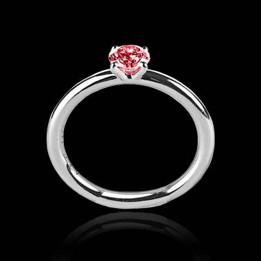 Ruby Engagement Ring White Gold Anja