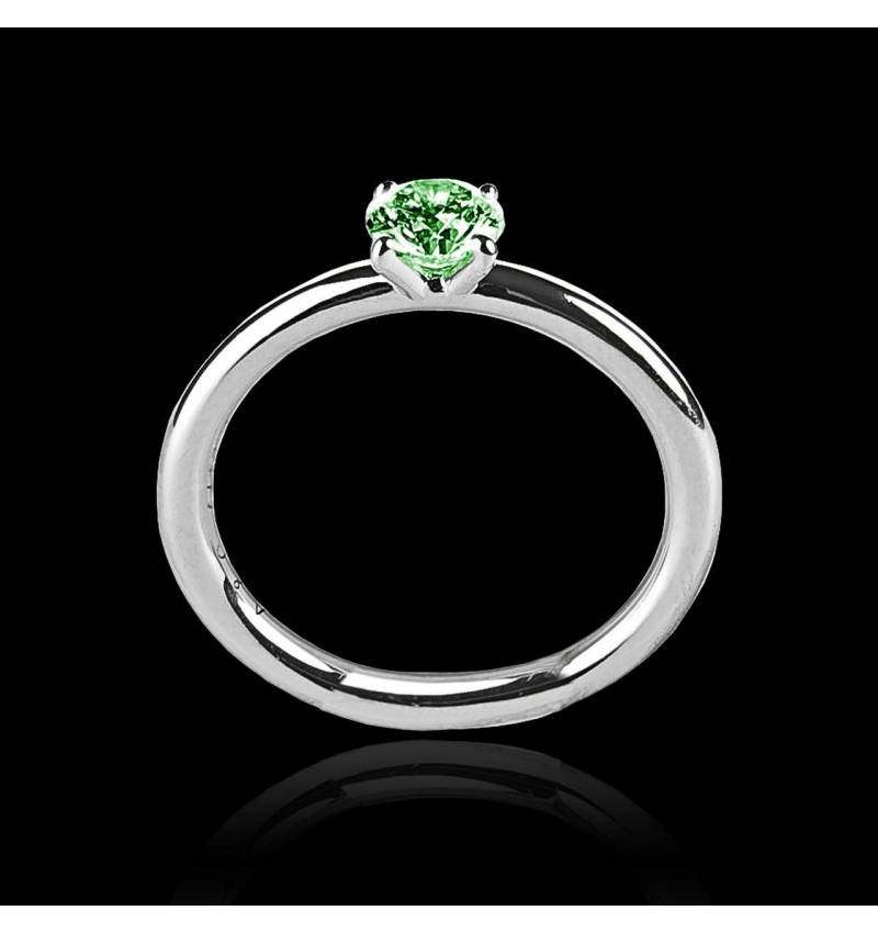 Emerald Engagement Ring White Gold Anja