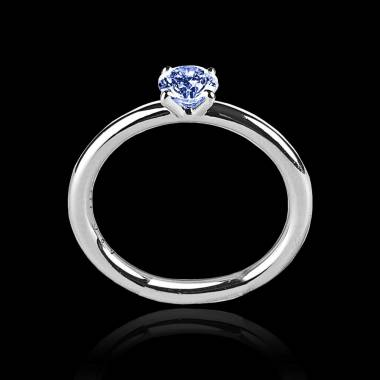 Blue Sapphire Engagement Ring White Gold Anja