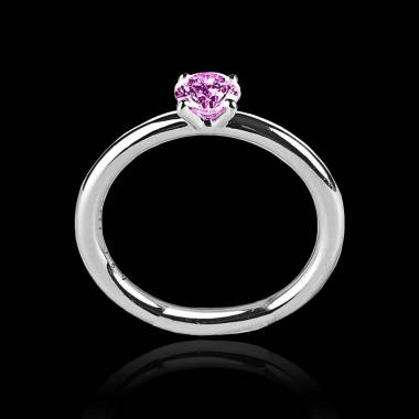 Pink Sapphire Engagement Ring White Gold  Anja