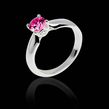 Pink sapphire engagement ring white gold Motherhood