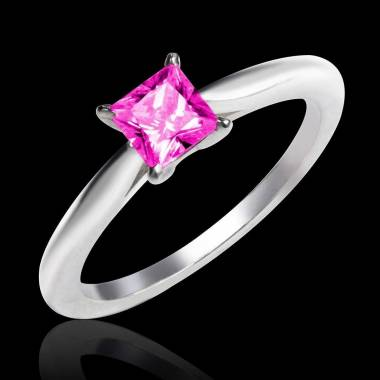 Pink Sapphire Engagement Ring White Gold My Love