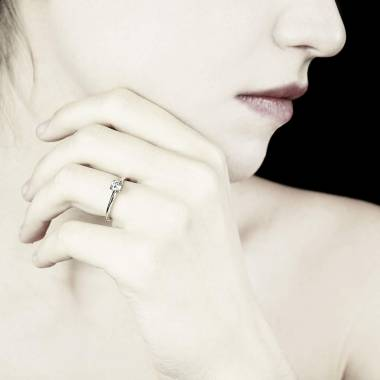 Diamond Engagement Ring White Gold Anja