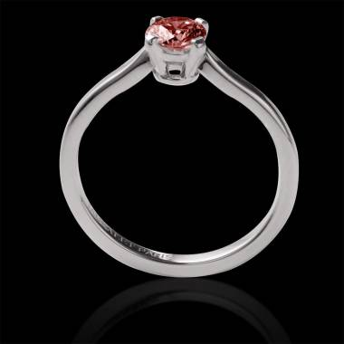 Ruby Round Engagement Ring White Gold  Vanessa Solo
