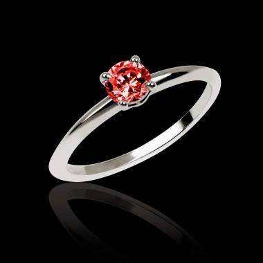 Ruby Engagement Ring White Gold Valentina