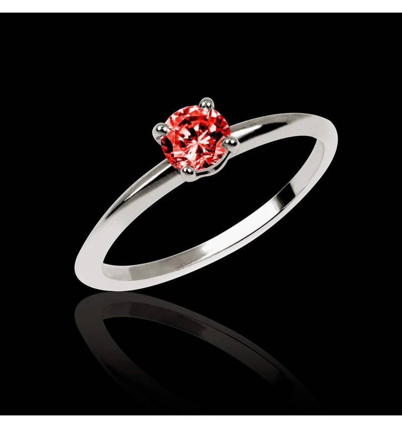 Ruby Engagement Ring White Gold Valentina