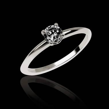 Black Diamond Engagement Ring White Gold Valentina