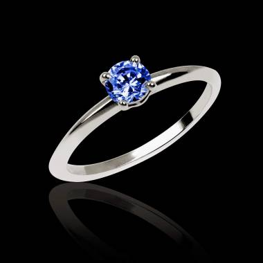 Blue Sapphire Engagement Ring White Gold  Valentina