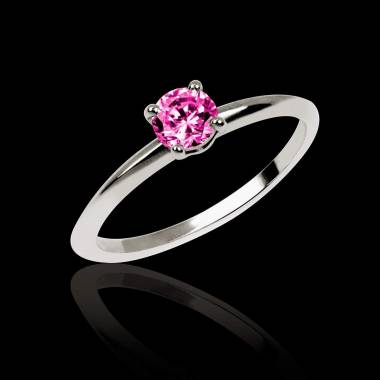 Pink sapphire Engagement Ring White Gold  Valentina