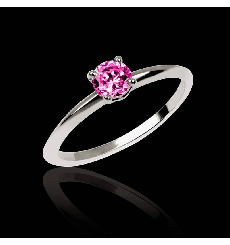Pink sapphire Engagement Ring White Gold  Valentina