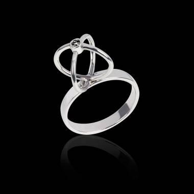 Black Diamond Ring White Gold Cage