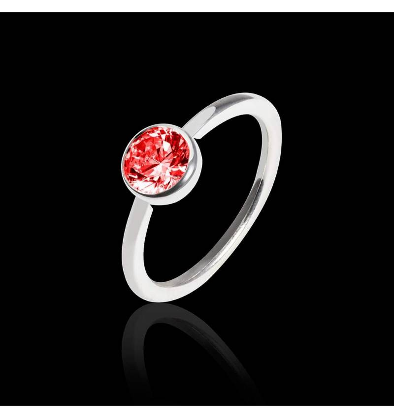 Ruby Engagement Ring White Gold Cristina