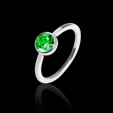 Emerald Engagement Ring White Gold Cristina