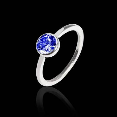 Blue Sapphire Engagement Ring White Gold Cristina
