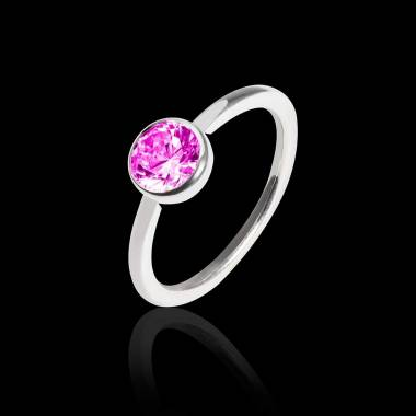 Pink sapphire Engagement Ring  White Gold Cristina