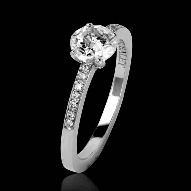 Diamond Engagement Ring Diamond Paving White Gold Judith