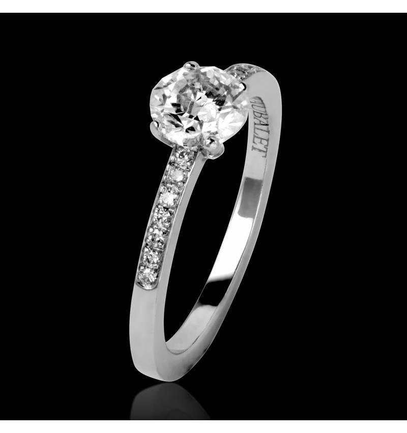 Diamond Engagement Ring Diamond Paving White Gold Judith