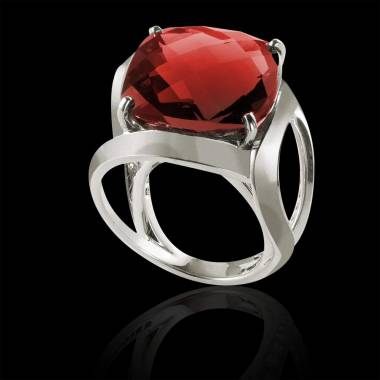 Ruby Engagement Ring White Gold Future Solo