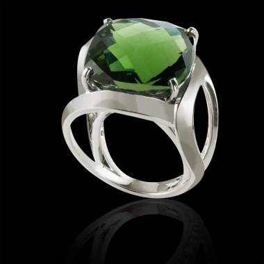 Emerald Engagement Ring White Gold Future Solo