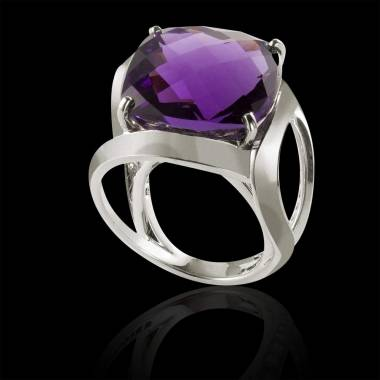 Pink sapphire Engagement Ring White Gold Future Solo