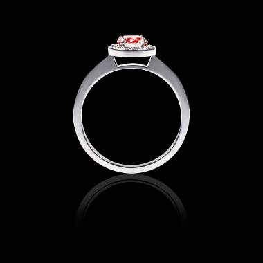 Ruby Engagement Ring Diamond Paving  White Gold  Rekha Solo